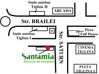 harta adresa Santamia Galati
